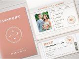Passport Wedding Invitation Template Philippines Printable Passport Invitation Design Suite Featuring