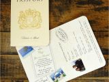 Passport Wedding Invitations Cheap Passport to Love Travel Card Style Wedding Invitation by