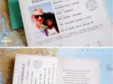 Passport Wedding Invitations Cheap Passport Wedding Invitations Wedfest