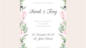 Pastel Wedding Invitation Template Pastel Pink Wedding Invitation Template Vector Premium