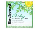 Patio Party Invitations Backyard Party Invitation Zazzle