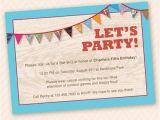 Patio Party Invitations Outdoor Fun Birthday Party Invitation