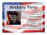 Patriotic Birthday Party Invitations Flag Photo Patriotic Birthday Party Invitation Zazzle