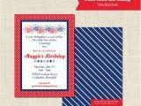 Patriotic Birthday Party Invitations Patriotic Birthday Invitation 1st Birthday Red White and