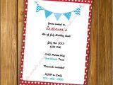 Patriotic Birthday Party Invitations Patriotic Invitation Patriotic Birthday by Loveyousohandmade