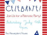 Patriotic Birthday Party Invitations Patriotic Party Invitations for Memorial Day 4th Of July or