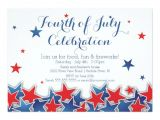 Patriotic Birthday Party Invitations Patriotic Stars 4th Of July Party Invitation Zazzle