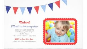 Patriotic Birthday Party Invitations Photo Birthday Invitation Patriotic Party Banner 5 Quot X 7