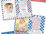 Patriotic First Birthday Invitations 4th Of July First Birthday Invitations Little by