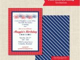 Patriotic First Birthday Invitations Patriotic Birthday Invitation 1st Birthday Red White and