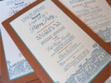 Patron Party Invitation Kim Grant Ink Such Copper and Teal Invitation for the