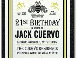 Patron Party Invitation Patron Tequila 21st Birthday Invitations Di 497 Custom