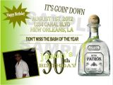 Patron Party Invitation solutions event Design by Kelly Patron theme Birthday