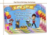 Paw Patrol Birthday Invitations Free Amazing Paw Patrol Birthday Invitations by