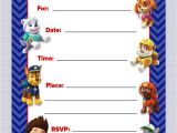 Paw Patrol Birthday Invitations Free Download Luvibee Kids Pany