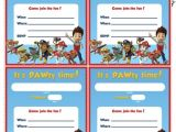 Paw Patrol Birthday Invitations Free Download Paw Patrol Birthday