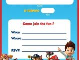 Paw Patrol Birthday Invitations Free Printable Free Printable Paw Patrol Birthday Invitation Ideas Free