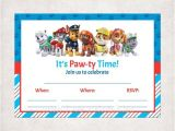 Paw Patrol Birthday Invitations Free Template Printable Paw Patrol Fill In Blank Birthday Invitations