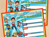 Paw Patrol Birthday Invites Free Free Printable Paw Patrol Birthday Invitation
