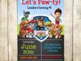 Paw Patrol Birthday Invites Free Paw Patrol Birthday Paw Patrol Invitation by Needmoredesigns