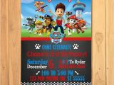 Paw Patrol Birthday Invites Free Paw Patrol Invitation Chalkboard theme Free Paw Patrol