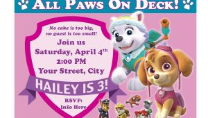 Paw Patrol Birthday Party Invitations Free Free Printable Paw Patrol Birthday Invitation Ideas