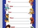 Paw Patrol Birthday Party Invitations Free Paw Patrol Birthday Invitations Free Printables