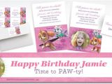 Paw Patrol Invitations Party City Custom Pink Paw Patrol Banners Invitations & Thank You