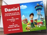 Paw Patrol Invitations Party City Paw Patrol Personalised Children S Birthday Party