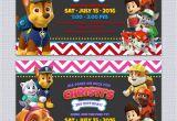 Paw Patrol Party Invitation Template Paw Patrol Birthday Invitations Free Printables