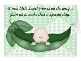 Pea In A Pod Baby Shower Invitations Green Baby Shower Pea In A Pod Invitation Greeting Cards