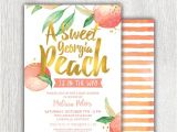 Peach and Gold Baby Shower Invitations Printable Georgia Peach Baby Shower Invitation Peach and