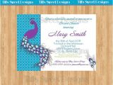 Peacock Bridal Shower Invitations Etsy 61 Best Peacock Party Images On Pinterest