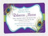 Peacock Bridal Shower Invitations Etsy Peacock Feather Invitation Printable Bridal Shower Baby