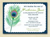 Peacock Bridal Shower Invitations Etsy Proud Peacock Feather Baby or Bridal Shower by Mommiesink
