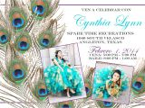 Peacock Quinceanera Invitations Custom Peacock Xv Anos Quinceanera Invite by Sayitlouddesigns