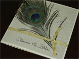Peacock Quinceanera Invitations Hand Stamped by ashley Romo Peacock Feather Wedding