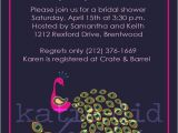 Peacock themed Bridal Shower Invitations Bridal Shower Invitations with Fancy Peacock by