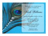 "Peacock themed Bridal Shower Invitations Jewel Peacock Feather Bridal Shower Invitations 5"" X 7"