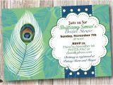 Peacock themed Bridal Shower Invitations Lovely Peacock Feather theme Bridal Shower by socalcrafty