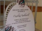 Peacock themed Bridal Shower Invitations Peacock Bridal Shower Invitationcustom Die Cut Dress