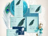 Peacock Wedding Invitation Sets Vintage Peacock Wedding Stationery Set Invitation Suite