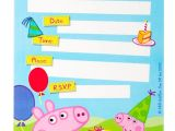 Peppa Pig Birthday Party Invitation Template Free Peppa Pig Party Invitations