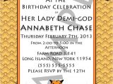 Percy Jackson Birthday Party Invitations Demi God Percy Jackson Inspired Greek God Half Blood