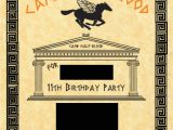 Percy Jackson Birthday Party Invitations Percy Jackson Invite