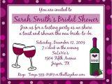 Personal Bridal Shower Invitation Wording 20 Personalized Bridal Shower Invitations Wine theme