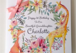 Personalised 1st Birthday Cards for Granddaughter Cute Personalised 1st Birthday Card Daughter Granddaughter