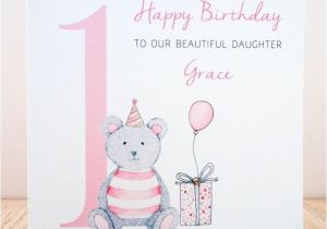 Personalised 1st Birthday Cards for Granddaughter Handmade Personalised 1st Birthday Card Niece Daughter
