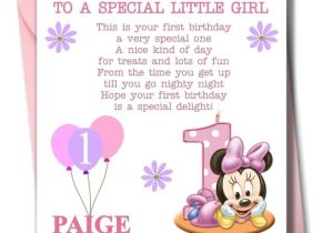 Personalised 1st Birthday Cards for Granddaughter Personalised Minnie Girl Daughter Granddaughter Babies