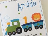 Personalised 1st Birthday Cards for son Personalised Grandson Birthday Cards Free Card Design Ideas